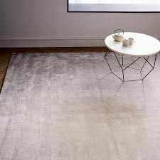 Ombre Runner Rug Ombre Shine Wool Rug Soot West Elm