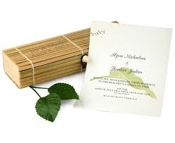 box wedding invitations cabana wedding invitation in bamboo box hansonellis