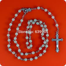 religious jewelry stores glow in rosary inri jesus cross crucifix pendant