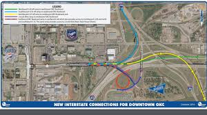 Okc Map New Interstate Connections For Downtown Okc Open Friday News9