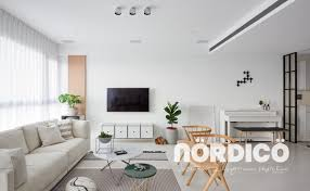 black white and patterns steal the show in this scandinavian