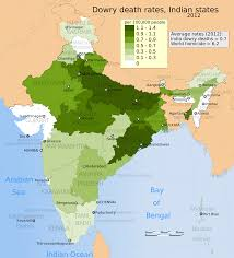States Of India Map by File 2012 India Dowry Death Rate Per 100000 People Distribution