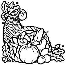 thanksgiving cornucopia coloring pages page free