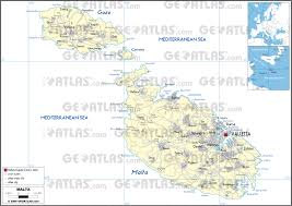 Malta World Map Geoatlas Countries Malta Map City Illustrator Fully