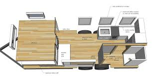 House Floor Plans Designs by Ana White Free Tiny House Plans Quartz Model With Bathroom