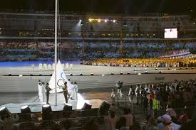 Ceremony Flag File The Olympic Flag In 2006 Winter Olympics Opening Ceremony Jpg
