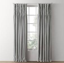 Cotton Curtains And Drapes Grey Cotton Canvas Drapery Panel