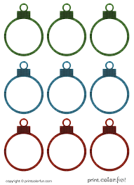 christmas ornament gift tags coloring print color fun