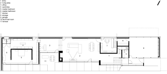 slope house plans slight slope long house by i o architects caandesign