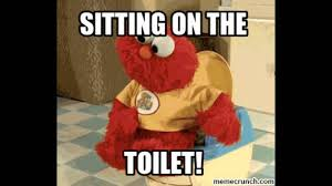Sittin On Tha Toilet Meme - elmo s sitting on the toilet youtube