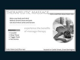 Massage Therapy Business Cards Cybernetic Visionaries Design It U0027s Finest