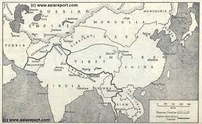 Kabul Map Map Schematic Asia Great Game China Russia Britain02a