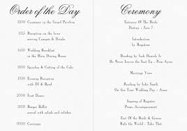 Example Of Wedding Programs Order Of Service And Organising Your Guests A S Invites