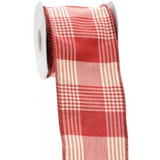 plaid ribbon 4 plaid ribbon 10 yards ra1081xn craftoutlet