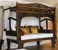 Four Post Canopy Bed Frame Bed Frames Solid Teak Canopy Style Designs