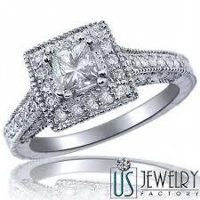 princess cut 3 engagement rings 1 33 carat f vs2 square halo princess cut engagement ring