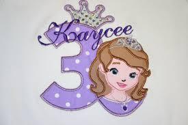 princess sofia birthday shirt personalized
