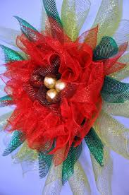 deco mesh poinsettia wreath aftcra