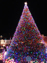 christmas tree lights christmas tree background 10500 hdwpro