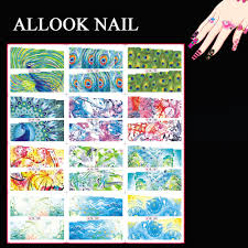 online get cheap peacock nail decals aliexpress com alibaba group