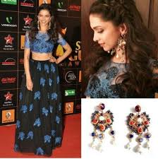 outhouse earrings deepika padukone in shehla khan outhouse at guild awards
