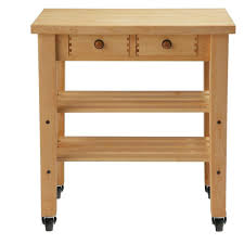 maple kitchen cart with shelf 7v04030 the home depot