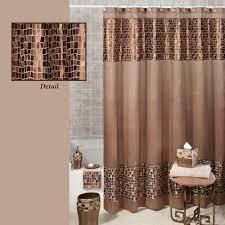 home bath shower curtains u0026 hooks bronze mosaic stone fabric