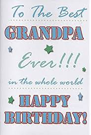 grandpa birthday card amazon co uk office products
