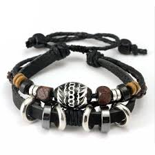 leather rope bracelet images Black leather rope bracelet trend square co jpg