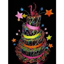 sweet 16 glow in the dark themed birthday cake cakes polyvore