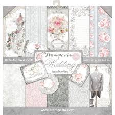 shabby chic wedding scrapbook paper stamperia 12x12 collection