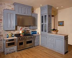 what color appliances with blue cabinets beautiful blue kitchen design ideas