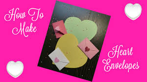 how to make an envelope out of a heart shape youtube