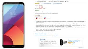 amazon smartphones black friday deal unlocked lg g6 can now be yours for 470 on amazon android