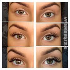 professional eyelash extension professional lash extensions different thicknesses and lengths