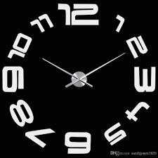 new fashion creative big diy 3d digital mirror sticker wall clock