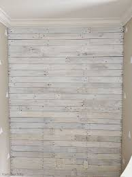 faux wood paneling diy outdoor shower wall created with