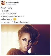 Alicia Keys Meme - alicia keys she doesn t have the range know your meme