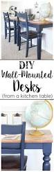 Wall Mounted Folding Kitchen Table Best 20 Wall Mounted Desk Ideas On Pinterest Space Saving Desk
