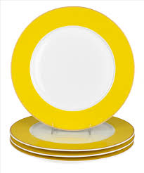 latika dinner plate set of 4 yellow echo design