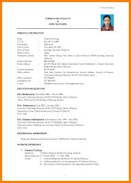 sle of curriculum vitae for job application pdf resume sle pdf malaysia cv for job application pdf exle