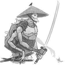 samurai alien sketch by yellaboy23 on deviantart