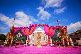 elegance decor outdoor hindu south asian wedding ceremony baps