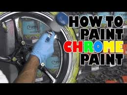 how to paint alsa brand chrome paint youtube