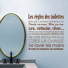 French Bathroom Decor by Aliexpress Com Buy French Bathroom Rules Wall Stickers French