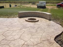 patio examples home design backyard stamped concrete patio ideas banquette home