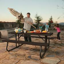 lifetime 6 folding outdoor picnic table brown 60110 lifetime 6 folding picnic tables folding table design