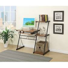 desk with shelves on side desk with side shelves wayfair