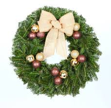 24 in cocoa chic real live fraser fir wreath fresh