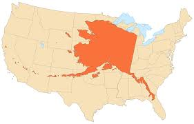 United States Of America Maps by The United States Of America From Alaska U0027s Point Of View